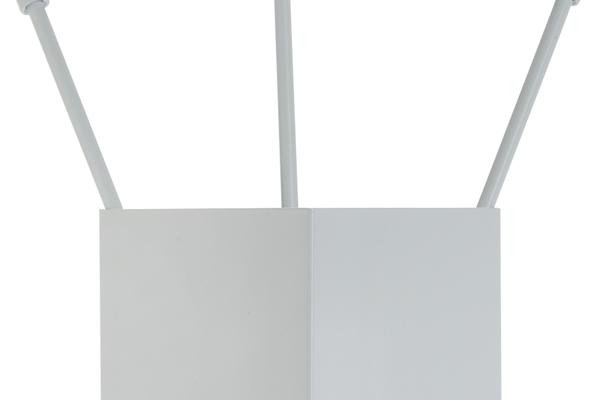 Κουβαδάκι τζακιού με εργαλεία Κ36-1230 λευκό πάγου λεπτομέρεια