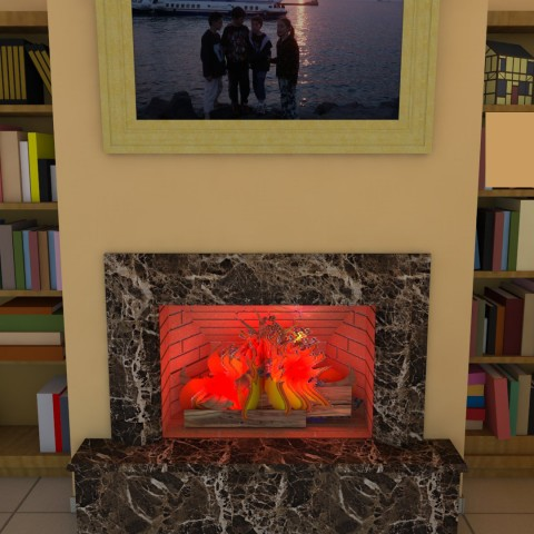 middle fireplace 12