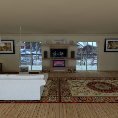 middle fireplace 202