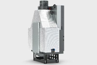 Ενεργειακό τζάκι Plano EF 1010 IDRO της CAMINODESIGN πίσω όψη