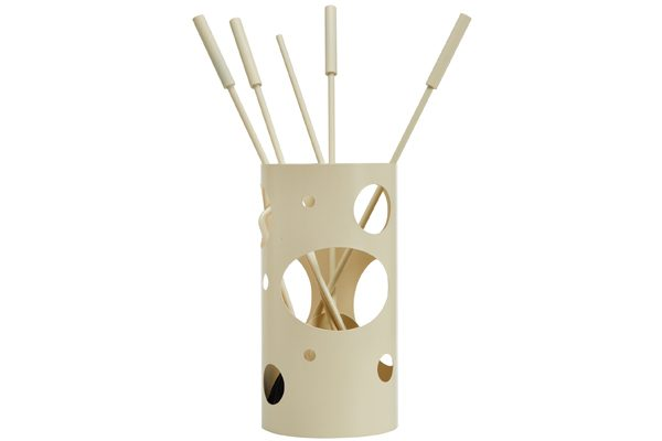 Fireplace accessories bucket with tools K30-1230 ivory