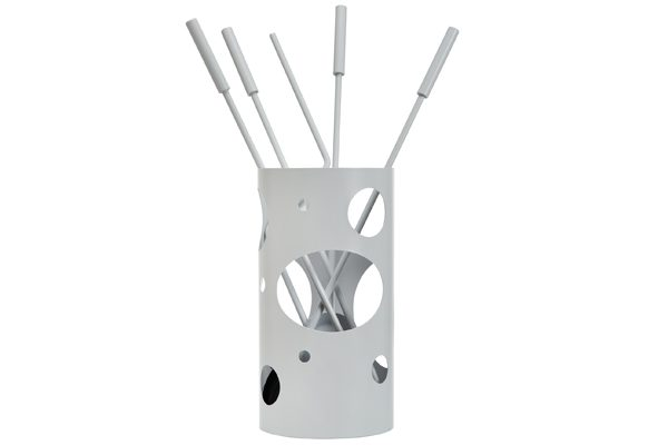 Fireplace accessories bucket with tools K30-1230 ice white