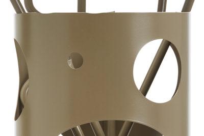 Κουβαδάκι τζακιού με εργαλεία Κ30 – 1240 Καφέ ελιάς λεπτομέρεια